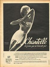 Publicité Advertising  Chantelle la gaine qui ne remonte pas !