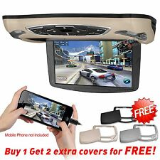 10.1'' HDMI Car Roof Mounted Flip Down HD Monitor Overhead DVD Player Game IR