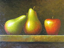 "Collegno Fruits Original Hand Painted 12""x16"" Oil Painting Food Canvas Art"