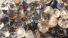 THREE (3) SMOKEY QUARTZ TUMBLED STONES MEDIUM/LARGE NATURAL TUMBLE STONES SMOKY