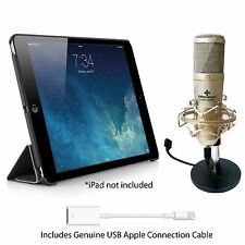 KIT DI REGISTRAZIONE iPad-include microfono USB, cavi e supporti iPad 1, Pro, 2 Air