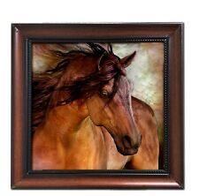 Montana West Horse Art- Laurie Prindle Wall Plaque Picture Metal SHIPS FREE 1954