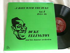 A Date With DUKE ELLINGTON Vol 4 1945-46 Johnny Hodges Cat Anderson Ray Nance LP