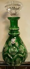 E&R hand cut crystal decanter made in germany mid century