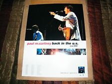Paul McCartney,  Back in the US 2002 mini promo tour FIVE posters for one price