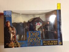 ARAGORN WITH BREGO DELUXE HORSE & RIDER LORD OF THE RINGS RETURN OF THE KING SET