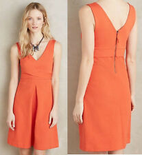ANTHROPOLOGIE NWT Ardmore Dress by HD in Paris Knit Red Orange Sz 4 Small $148