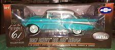 1/18 Highway 61 1957 CHEVY BEL AIR FENDER SKIRTS Turquoise & Ivory 1 of 300