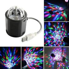 4W Colorful LED Crystal Rotating RGB USB Stage Light Lamp DJ Disco Club Party