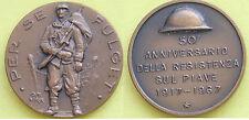 MEDAGLIA GETTONE ITALIA 50° ANNIVERSARIO DELLA RESISTENZA SUL PIAVE 1917-- 1967
