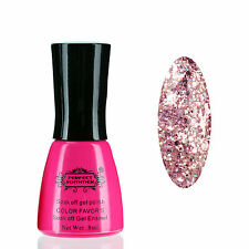 New Color Glitter Polish Stylish Neon UV Nail Gel Lacquer Varnish Sparkle #300