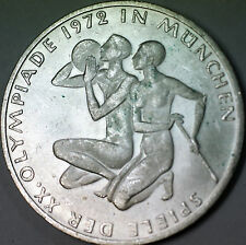1972 F German 10 Marks Silver Coin Olympic Games Commemorative Munich Couple