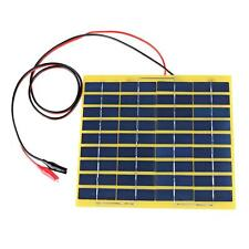 220x200mm 12V 5W Solar Panel Fit Car Battery Trickle Charger Backpack Power NEW