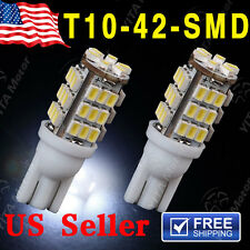 2PCS T10 168 912 921 6000K Xenon White 42LED Backup Reverse Lights Bulbs DC 12V