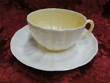 Belleek (Irish) Tridacna Yellow: Cup and Saucer Set (s)