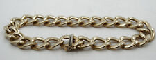 Gorgeous 14K Yellow Gold Bent Rolo Link Chain Bracelet 9 inch A237