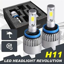US High Power 6500k White H11 CREE LED Low Beam Headlight Lights Bulbs Kit Pair