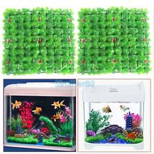 2Pcs Artificial Grass Plant Lawn Aquarium Fish Tank Landscape Garden Decor Green
