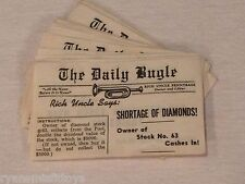 1946 vintage RICH UNCLE board game REPLACEMENT PIECES newspaper / DAILY BUGLES