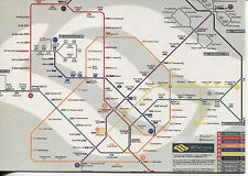 OVER SIZE POST CARD WITH MAP OF THE SINGAPORE SUBWAY SYSTEM WITH STOPS & LINES