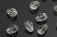 25 Crystal Ice Faceted Teardrop Beads 7MM