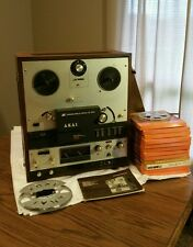Akai X-360 Cross Field Head Reel to Reel Tape Recorder Player Deck with manual