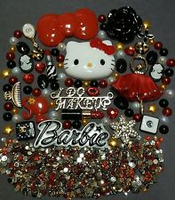 Hello Kitty BOW & BLING Cabochon Kawaii Lot DIY decoden Phone kit resin flatback