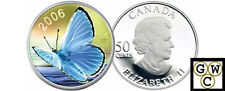 2006 Butterfly Hologram Silvery Blue 50ct Silver (OOAK) (11962)