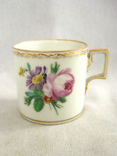 C1810 Hand Painted Porcelain Coffee Can / Cup- Beehive / Shield Mark?