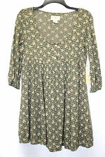 Denim & Supply Ralph Lauren Dress Tunic Floral Print Henley Linden Olive Size XS