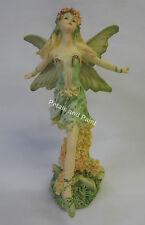 18cm Green Dancing Tiara Fairy Ornament For Garden, Birthday Cake Topper FE327A