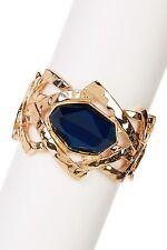 Bansri 18k Gold Plated Blue Stone Stretch Bracelet