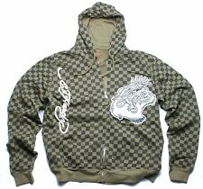 Ed Hardy Tiger Applique Hoody (M) Olive