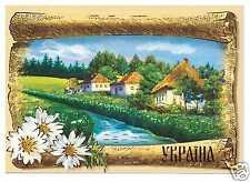 Ukraine Refrigerator Souvenir Rubber Magnet Ukrainian Village Україна