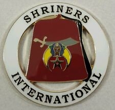 Shriners International Cut Out Car Emblem in White (Part# CE 65)