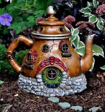 Miniature Fairy Garden Tea Pot House / Door is hinged Faerie Gnome Teapot 16483
