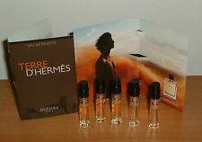 5 x HERMES ~Terre D'Hermes Eau De Toilette for Man 2ml ~Sample Vial Spray