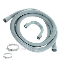 Drain Outlet Hose For SMEG Washing Machine 2.5m Kit + Clips 30mm / 22mm