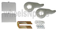 "Lift Kit Chevy 1992 - 1999 K1500 6 Lug Forged Torsion Keys & 2"" Aluminum Blocks"