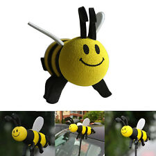 Cute Car Antenna Toppers Smiley Honey Bumble Bee Aerial Ball Antenna Topper abus