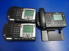 Lot of 3x Nortel NTDU92 i2004 2004 VoiP IP Phones w/ 1x Handset 1x Base