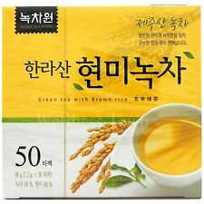 Korean Hallasan Green tea with Brown rice 50 Tea bags