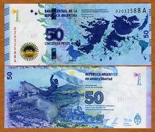 Argentina, 50 Pesos, 2015, P-New, UNC   Malvinas Islands (Falklands) commem.