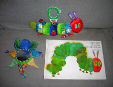 ERIC CARLE plush CATERPILLAR TOY + BOOK VERY HUNGRY CATERPILLAR + BABY TOY