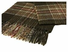 Lambswool scarf  Dales Collection Reeth forest green check BRITISH MADE GIFT