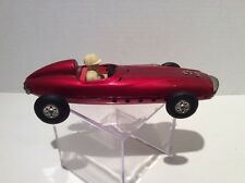 Vintage Tin Litho Friction Toy Race Car With Driver In Super Condition Free Ship