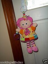 MY FRIEND EMILY PLUSH DOLL FIGURE LAMAZE PLAY AND GROW STROLLER BABY TOY RATTLE