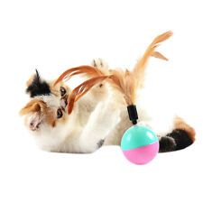 1x  Feather Tumbler Activity Creative Play Toys for Pet Cat Dog Kitten MWUK