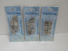 Sweet Inspirations Handcrafted Fancy Metal Recantangle Beads - Lot of 3 Packages