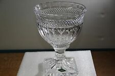 "Elegant 9.5"" Tall Shannon Lead Crystal Pedestal Bowl / Compote 24% pb Crystal"